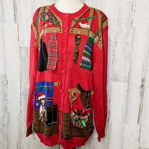 SUSAN BRISTOL Vintage Christmas Holiday Sweater L